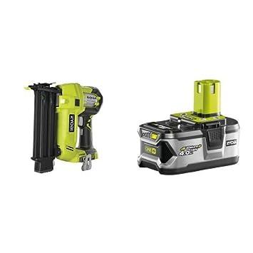 Ryobi R18N18G-0 - Clavadora de alta presión (18 voltios) + RBC18L40 - Pack cargador 1 h + 1 Batería Lítio-Ion 18V 4,0Ah: Amazon.es: Bricolaje y herramientas