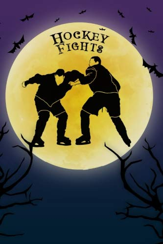 Hockey Fights Notebook Training Log: Cool Spooky Halloween Theme Blank Lined Student Exercise Composition Book/Diary/Journal For Hockey Fight Fans, Hockey Players, 6x9, 130 Pages (Halloween Edition)]()