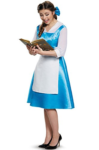[Disguise Belle Blue Dress Tween Disney Princess Beauty & The Beast Costume, X-Large/14-16] (Beauty And The Beast Costume Belle)