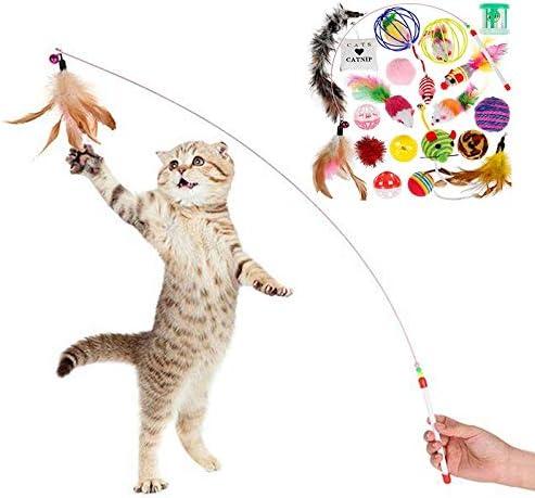Alihoo Juego de Juguetes para Gatos, 20 Unidades, Juguete para Gatos, Incluye Juguete para Gatos, Ratones, Bolas, Juguetes interactivos, etc.: Amazon.es: Productos para mascotas