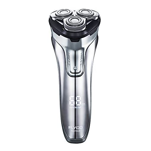 FLYCO Electric Razor Rotary Shaver for Men 3D Rechargeable Cordless Shavers Mens Close Cut Wet & Dry Razors for Shaving with Trimmer, IPX7 Waterproof, Time Display, Travel Case - 41VrZ8Yr44L - FLYCO Electric Razor Rotary Shaver for Men 3D Rechargeable Cordless Shavers Mens Close Cut Wet & Dry Razors for Shaving with Trimmer, IPX7 Waterproof, Time Display, Travel Case