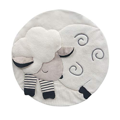 Lambs & Ivy Sheep Interactive Baby Play Mat, Gray