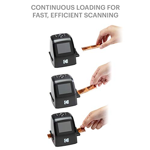 KODAK Mini Digital Film & Slide Scanner – Converts 35mm, 126, 110, Super 8 & 8mm Film Negatives & Slides to 22 Megapixel JPEG Images – Includes - 2.4 LCD Screen – Easy Load Film Adapters by Kodak (Image #1)