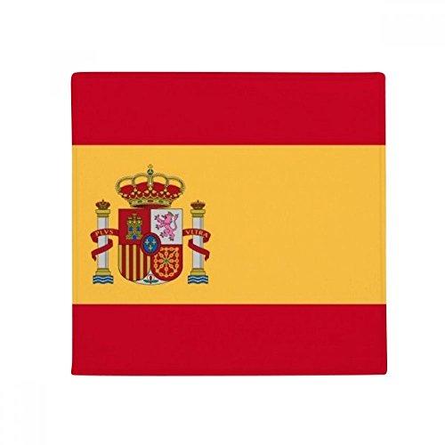 Spain National Flag Europe Country Anti-slip Floor Pet Mat Square Home Kitchen Door 80cm Gift by DIYthinker