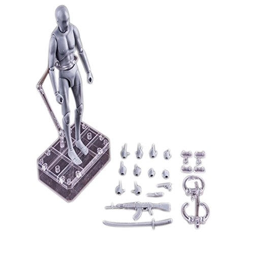 Tulas Action Figure Model Male/Female Body Chan Kun PVC Doll with Accessories Kit for Drawing, Sketching, Painting, Artist,Youth Jersey Cartoon, SHF ()