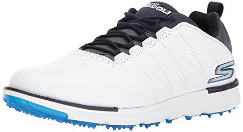 Skechers Men's Go Golf Elite 3 Golf Shoe,White/Navy,10.5 M US