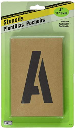 HY-KO Products ST-4 Number & Letter Stencils, 4 INCH, Tan ()