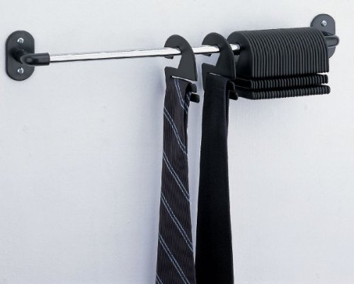 30 Tie Organizer Wall Mounted Set Of 2 Chrome Buy