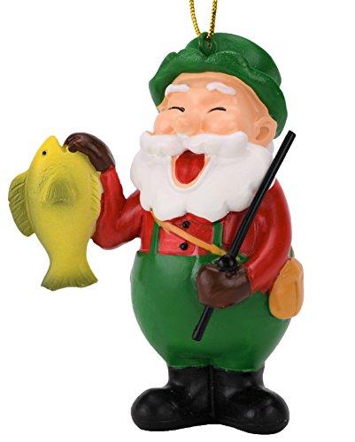 - Tree Buddees Fishing Santa Claus Christmas Ornament