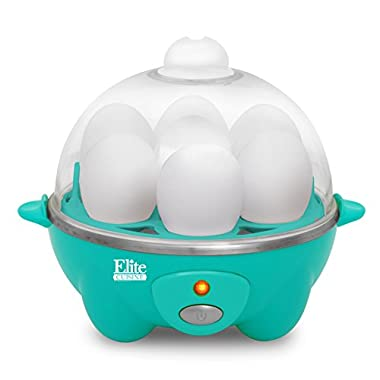Elite Cuisine EGC-007T Egg Cooker with 7 Egg Capacity, Teal