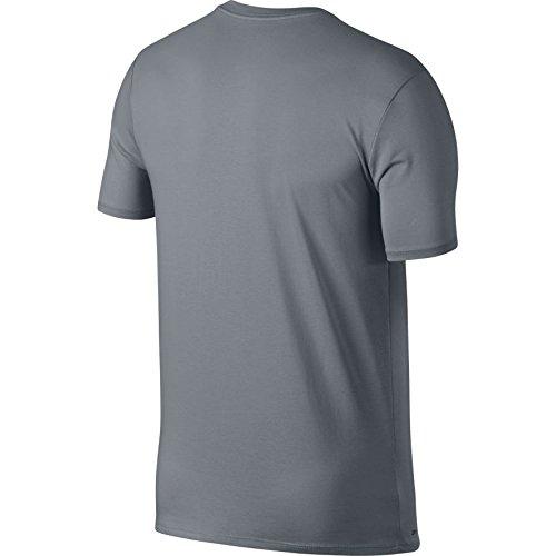 Nike Mens Jordan Dry 23/7 Jumpman Basketball T-Shirt Cool Grey/Black 840394-065 Size Large