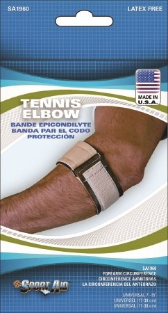 Tennis Elbow Sleeve Sport-Aid One Size Fits Most Hook and Loop Closure Tennis