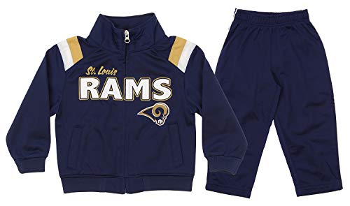 - Outerstuff NFL St.Louis Rams Infant & Toddler (12M-4T) Jacket and Pant Windsuit Set, Navy 3T
