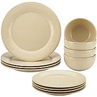Rachael Ray Cucina 12-Piece Stoneware Dinnerware Set