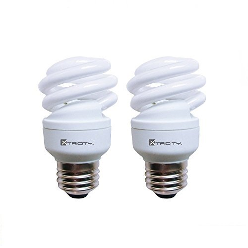 (Compact Fluorescent Light Bulb T2 Spiral CFL, 5000k Daylight, 9W (40 Watt Equivalent), 540 Lumens, E26 Medium Base, 120V, UL Listed (Pack of 2))