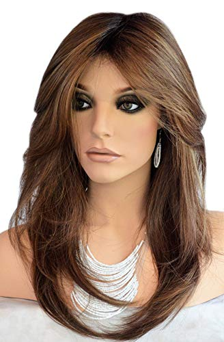 Auflaund Natural Straight Brown Wig Side Part Long Daily Use Hair Wigs with Natural Wave for Women Stunning Heat…