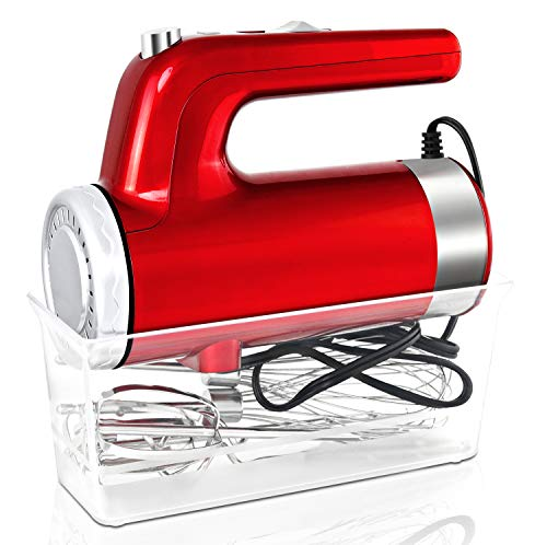 I00000 5-Speed Hand Mixer Electric, 400W Turbo Handheld Kitchen Mixer with Storage Case and 6 Stainless Steel…
