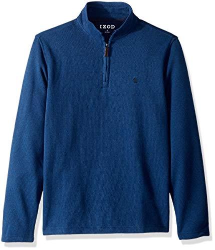 IZOD Men's Spectator 1/4 Zip Sweater Fleece, New Estate Blue, X-Large -