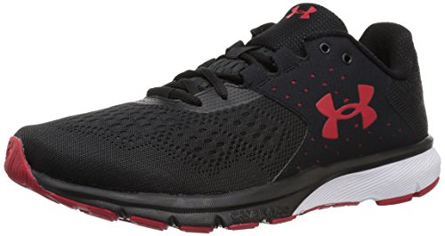 Under Armour Men's Charged Rebel Running Shoe, Black (002)/Red, 9
