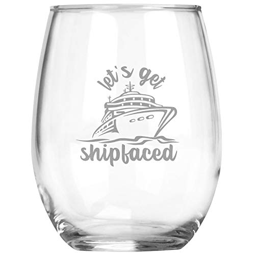 Funny Cruise Ship Party Gift | Stemless Wine