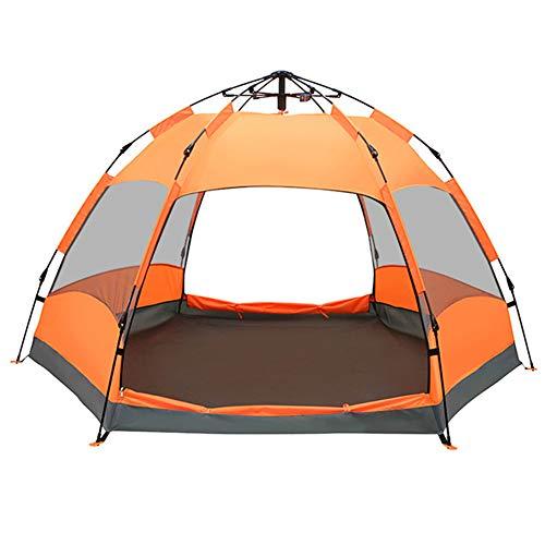 腫瘍畝間意識的完全自動テント、2/3/4人2ベッドルーム1部屋の自動ポップアップテント、屋外二重層防水ポータブルアウトドアキャンプハイキングテント