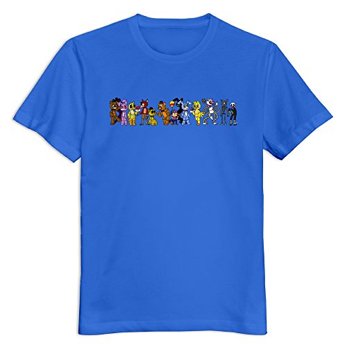 Mens Five Nights At Freddy S Personalized Retro Size M Color RoyalBlue T-Shirt By Mjensen