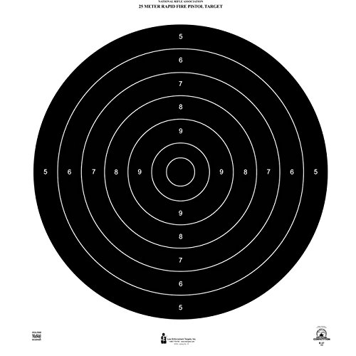 (48 Pcs, Official Nra International 25-Meter Rapid Fire Pistol Target (B-37) Printed On Approved Heavy Weight (Tag) Nra Paper 21