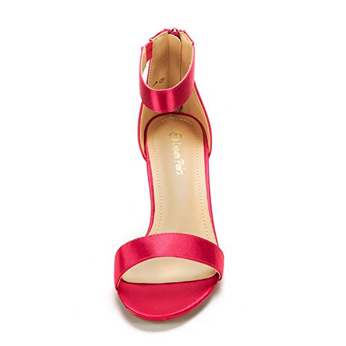 Open Fiona DREAM PAIRS Stilettos Toe Pump Fashion Fuchsia Heeled Sandals Womens wqpBpRxXgC