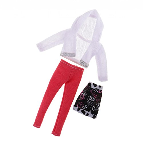 - Dovewill Fashion 1/6 Doll Clothes Suit –Sweater & Chest Wrap & Pants - for Barbie Same-Size Friends Doll Outfit