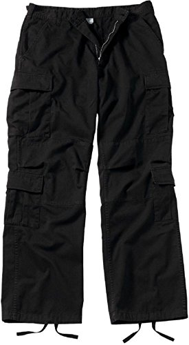 Bellawjace Clothing Vintage Black Army Paratrooper Pants Tactical Military BDU Fatigue