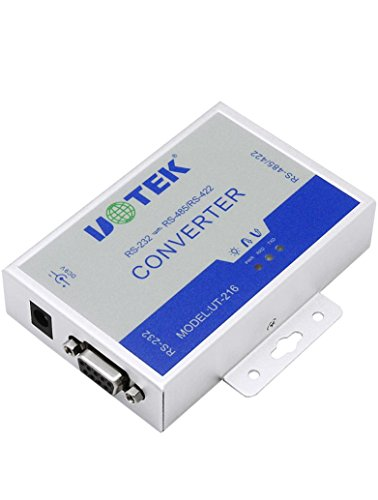 UTEK UT-216 RS232 to RS485/422 Active Vonverter(External-powered, RS-232 to RS-485/422, Wall-mounted, 600w Surging protetion) by U-Tek