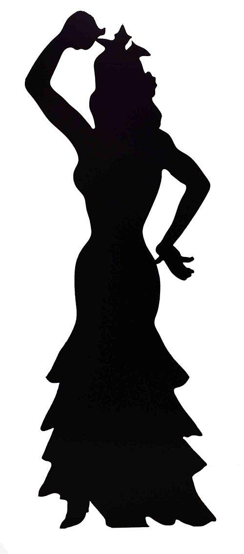 AmerTraders Ritaglio di Cartone di Silhouette di Ballerina di Flamenco - 1,84 m