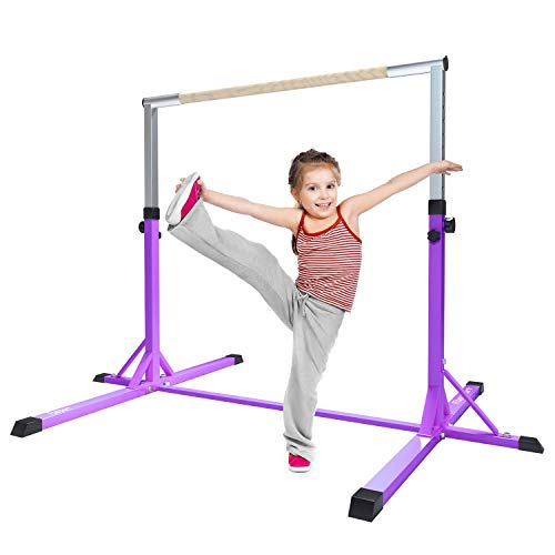 FBSPORT Gymnastics Trainning Kip Bar Expandable Horizontal Bar Adjustable Height Fitness Equipment for Home/Floor/Practice/Gymnastics/Tumbling/Parkour -
