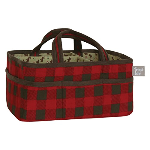 Trend Lab Northwoods Storage Caddy, Red/Tan