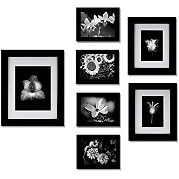 picture hanging template kit - gallery perfect 7 piece black photo frame wall