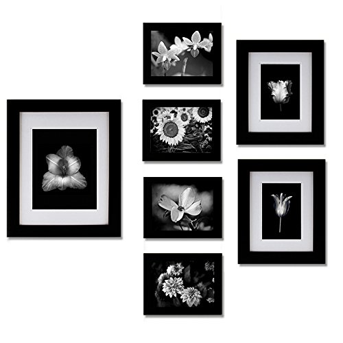 Gallery Perfect 7 Piece Black Photo Frame Wall Gallery Kit.