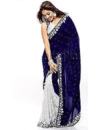 Stylo Sarees Wedding Designer Indian Ethnic Party Wear Velvet Saree Free Size