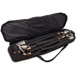 Rapala Soft-Sided 30 Rod Bag, Black/Red