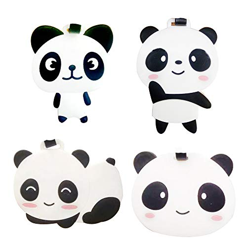 Travel Luggage Tags Travel Accessory Panda Pattern PVC Suitcases Tags, Set of 4 ()