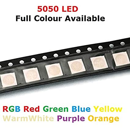 100Pcs 1210 3528 SMD SMT LED Chip RGB Tri-Color Red Green Blue Light Lamp Diodes