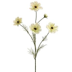 """Silk Flower Arrangements 32"""" Silk Cosmos Flower Spray -Cream (Pack of 12)"""