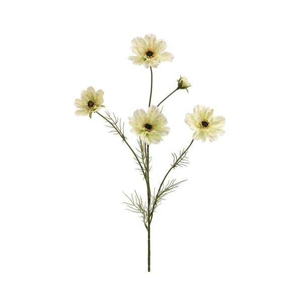 32″ Silk Cosmos Flower Spray -Cream (Pack of 12)