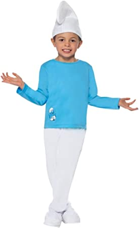Smiffys - Disfraz de pitufo para niño, Talla M (34267M): Amazon ...