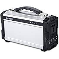 Suaoki 222Wh Portable Power Station Power Supply Rechargeable Lithium Battery Pack with 110V/200W AC Inverter Outlet