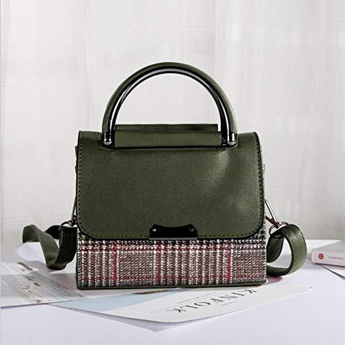 Féminin Frais Messenger Bicolores Femme Littéraire Modèles Main Sac Couture Guanjun Bandoulière Darkgreen Bag Pour À 7T4ttI