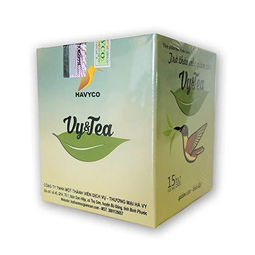 - 1 box (15 pack - Use 15 days) Trà Thảo Mộc giảm cân Vy & Tea -Vy & Tea - natural herbal tea help weight loss, sleep deep and purifying the body