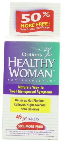Healthy Woman Soy Menopause Supplement Tablets, 45 Count