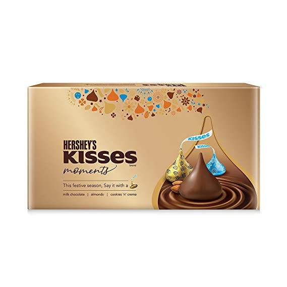 Hershey's Kisses Moments Chocolate Gift Pack, 129g