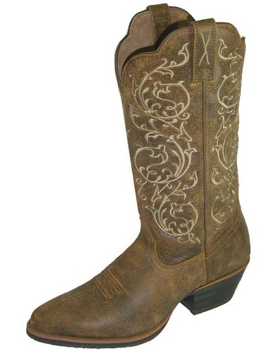 (Twisted X Womens Bomber Leather 12in Embroidered Western Cowboy Boots 9C)