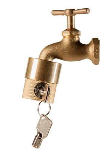 (Flow Security Systems | The FaucetLock | Heavy Duty Brass Construction | Prevents Water Theft & Secures Outdoor Bibbs | Promotes Water Conservation | Keyed The Same | FSS 50 | 1 Pack )